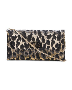 Made In Italy Vero Feline Print Clutch