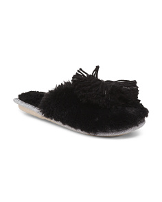 Packaged Pom Pom Slippers
