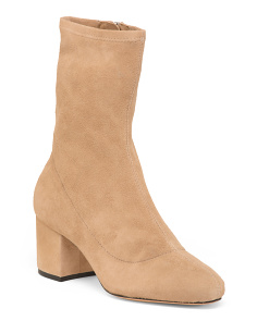 Made In Brazil Suede Block Heel Boots