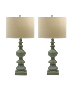 Set Of 2 30in Sandy Resin Table Lamps
