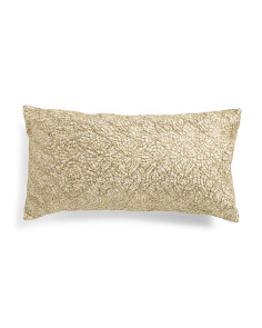 14x26 Lace Sequin Faux Linen Pillow