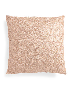 20x20 Lace Sequin Faux Linen Pillow