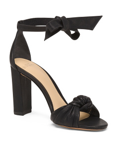 Made In Brazil Nappa Leather Knotted High Heel Sandals