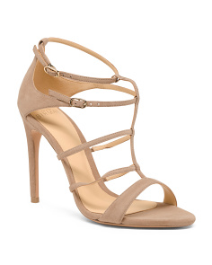 Made In Brazil Suede Stiletto Heel Sandals
