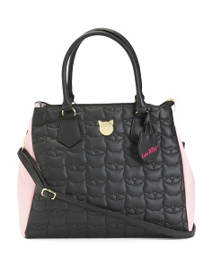 Large Two Tone Satchel