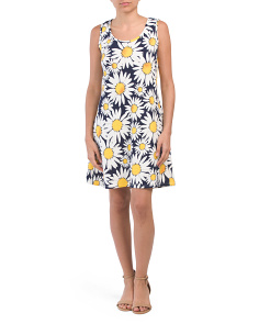Petite Sleeveless Sunflower Dress