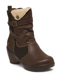 Memory Foam Faux Shearling Lined Cold Weather Boots