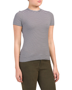 Pima Cotton Tiny Apex Stripe Tee