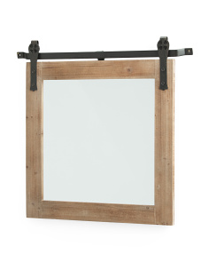 Wood And Metal Mirror