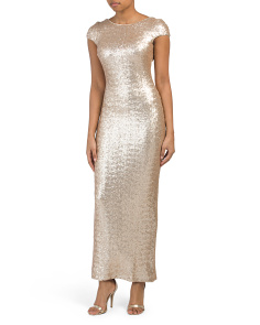 Made In Usa Teresa Sequin Gown