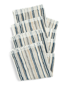 4pk Of Thin Stripe Wash Towels