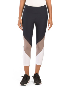 Ankle Length Color Block Leggings