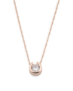 Made In Italy Sterling Silver Cz Necklace