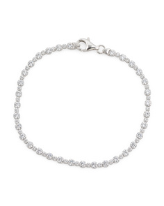 Made In Italy Sterling Silver Cz Tennis Bracelet
