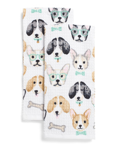 2pk Puppy Cafe Kitchen Towels