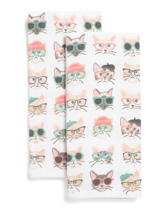 2pk Shady Cats Kitchen Towels