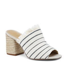 Jute Wrapped Block Heel Slide Sandals
