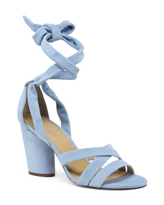 Strappy Suede Heeled Sandals