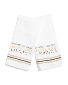 2pk Love And Laughter Kitchen Towels