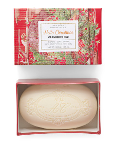 10.5oz Boxed Christmas Cranberry Soap