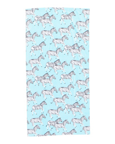 Zebra Stroll Beach Towel