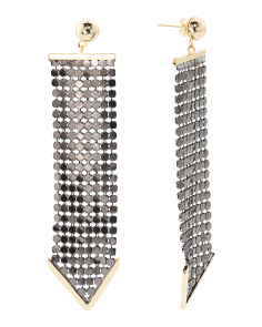 2 Tone Multidot Linear Arrow Earrings