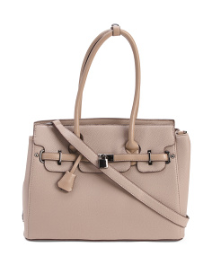 Lock Front Satchel