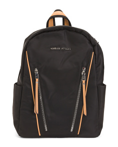 Nylon Backpack With Side Zips