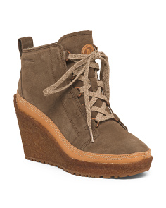 Wedge Weather Traction Suede Booties