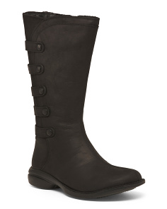 Waterproof Leather Knee High Boots