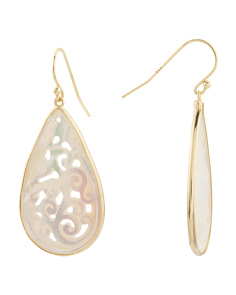 Sterling Silver Mother Of Pearl Drop Earrings