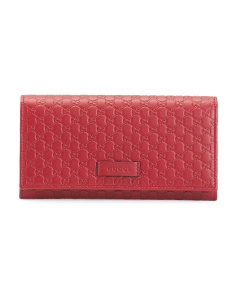 Made In Italy Logo Embossed Leather Wallet