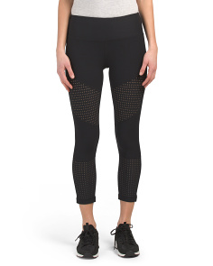 Capris With Mesh Contrast
