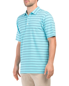 Natural Hand Double Stripe Golf Shirt