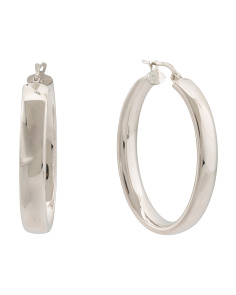 Made In Italy Sterling Silver Hoop Earrings
