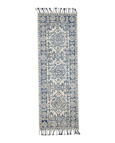 Made In India 2x7 Hand Hooked Wool Runner