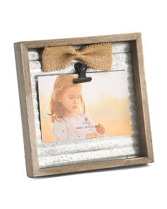 4x6 Galvanized Metal Bow Clip Photo Frame 6e27cdf773c4e