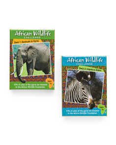 2pk African Wildlife Challenge Card Decks