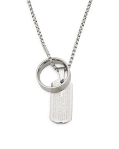 Men's Cross Ring And Necklace
