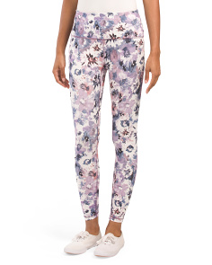 Ankle Length Watercolor Combo Print Leggings