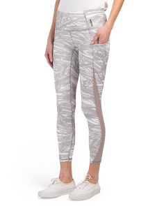 Ankle Length Abstract Print Leggings