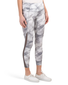 Watercolor Print Ankle Leggings