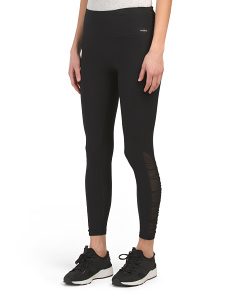 High Waist Shirred Power Mesh Leggings