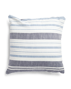 Made In India 22x22 Multi Stripe Pillow
