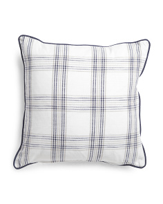 Made In India 22x22 Plaid Pillow