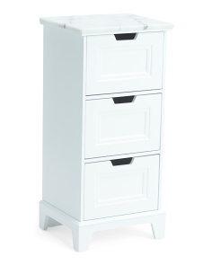 3 Drawer Marble Tower