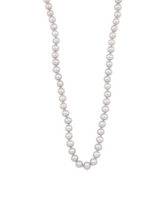 Sterling Silver Grey Pearl Necklace