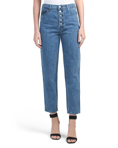 Heather High Rise Straight Jeans