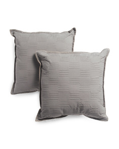 Made In India 20x20 2pk Textured Pillows