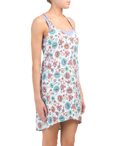 Made In Usa Hanky Hem Cover-up Dress